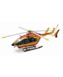 New Ray Die Cast Toy Helicopter Eurcopter EC145 Securite Civile - Yellow And Red