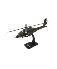 New Ray Die Cast Toy Helicopter Apache AH 64 - Green