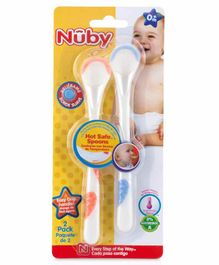 Nuby Training Spoons Pack of 2 - White