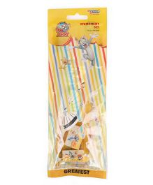 Sticker Bazaar Tom And Jerry Stationery Set Yellow -  Pack Of 5 Pieces