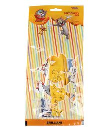 Sticker Bazaar Tom And Jerry Stationery Set Yellow - 7 Pieces