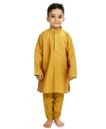 Raghav Kurta Pyjama Set - Golden