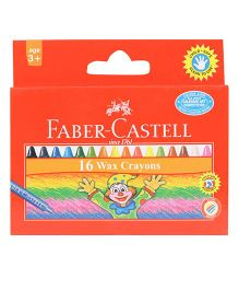 Faber Castell Wax Crayons - 16 Shades