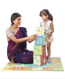 Funjoy Kids Puzzle Play Mat English Alphabets A to Z & Numbers 1 to 10 36 Tiles (Color May Vary)