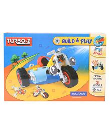 Turboz Build And Play Vehicle Set Multicolour - 71 Parts
