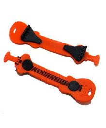 SafetyB Guitar Shape Silicone Diaper Fasteners Orange - 2 Pieces