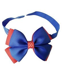 Keira's Pretties Double Bow On Headband - Red & Royal Blue