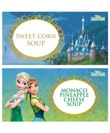 Disney Frozen Fever Food Labels Pack of 10 - Green Blue