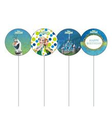 Disney Frozen Fever Cupcake & Food Toppers Pack of 10 - Multi Color