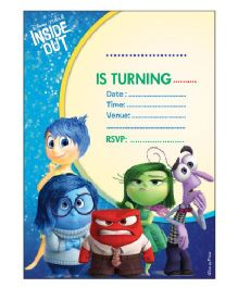 Disney Inside Out Invitations Pack of 10 - Multi Color