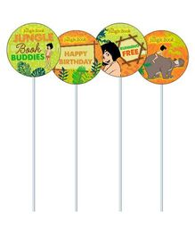 Jungle Book Cupcake & Food Toppers Pack of 10 - Green Orange