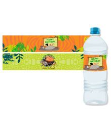 Jungle Book Bottle Labels Pack of 10 - Orange Green