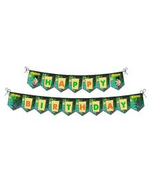 Jungle Book Happy Birthday Banner - Green