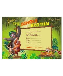 Jungle Book Invitations Cards Pack of 10 - Green