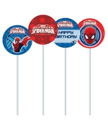 Marvel Spiderman Cupcake & Food Toppers Pack of 10 - Red Blue