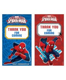Marvel Spiderman Thankyou Cards Pack of 10 - Red Blue