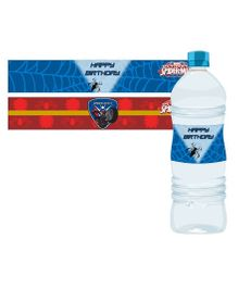 Marvel Spiderman Water Bottle Labels Pack of 10 - Red Blue