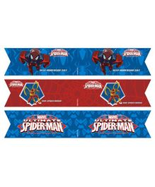 Marvel Spiderman Drink Straws Pack of 10 - Red Blue