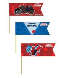 Marvel Spiderman Picks Pack of 20 - Blue Red