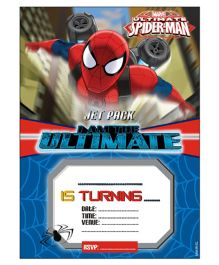 Marvel Spiderman Invitations Pack of 10 - Red Blue
