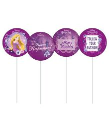 Disney Princess Rapunzel Cupcake & Food Toppers Pack of 10 - Purple