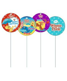 Disney Winnie the Pooh Cupcake & Food Toppers Pack of 10 - Multi Color