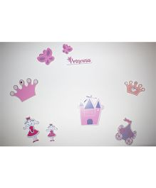 Kidoz Wooden Princess Wall Decor Pack Of 5 - Multi Color