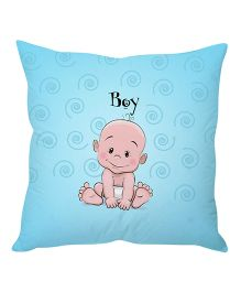 Stybuzz Cute Baby Cartoon Cushion Cover - Blue