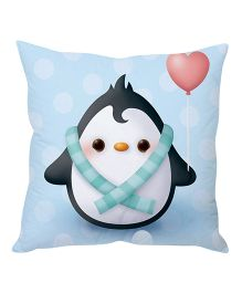 Stybuzz Penguin Cartoon Cushion Cover - Blue