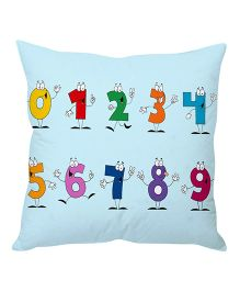 Stybuzz Cushion Cover Numbers Print - Blue