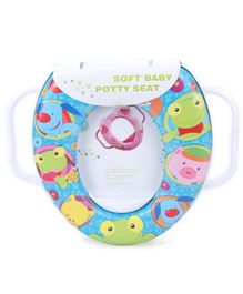 Babyhug Soft Potty Seat With Handle - Multicolor