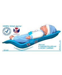 Hoopa Feeding Pillow Cum Carrier  - Turquoise Blue