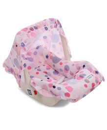 Mee Mee 5 In 1 Baby Cozy Polka Dot Carry Cot Cum Rocker - Pink