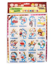 Sticker Bazaar Doraemon A4 Foam Sparkle Stickers - Multi Color