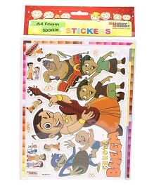 Sticker Bazaar A4 Foam Chhota Bheem Sticker Set
