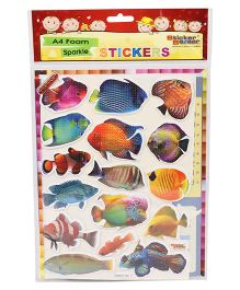 Sticker Bazaar Fish A4 Foam Sticker Set - Multicolor