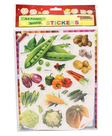 Sticker Bazaar Vegetables A4 Foam Sticker Set - Multicolor