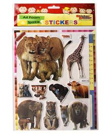 Sticker Bazaar Animals A4 Foam Sticker Set - Multicolor