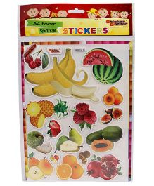 Sticker Bazaar A4 Size Fruits Foam Sticker - Multi Color