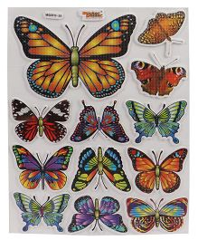 Sticker Bazaar Sticker Bazaar A4 Size Butterfly Foam Stickers - Multi Color