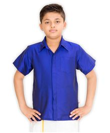 Kutti Baba Boys Ocassional Shirt - Royal Blue