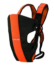 LuvLap Sunshine Baby Carrier - Black Orange