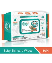 Buddsbuddy Baby Skincare Wet Wipes Jar White - 80 Pieces