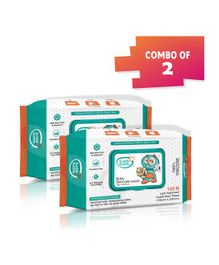 Buddsbuddy Combo Of 2 Baby Skincare Wet Wipes White - 100 Pieces Per Pack