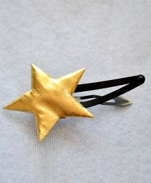 Pretty Ponytails Star Matte Clip - Golden