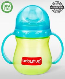 Babyhug Sipper Cup With Twin Handles Blue - 240 ml (Color May Vary)