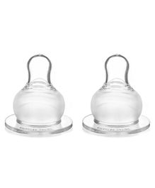 Babyhug Silicone Nipples Fast Flow - Pack of 2