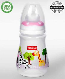 Babyhug Anti -Colic Polypropylene Drop Feeding Bottle Pink - 150 ml