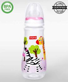 Babyhug Drop Anti- Colic Feeding Bottle Pink - 250 ml