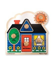 Melissa & Doug First Shapes Jumbo Knob Multi Color - 5 Pieces